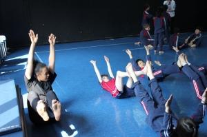Kisha teaching her team in Suzhou