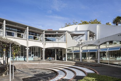 School of Music courtyard.