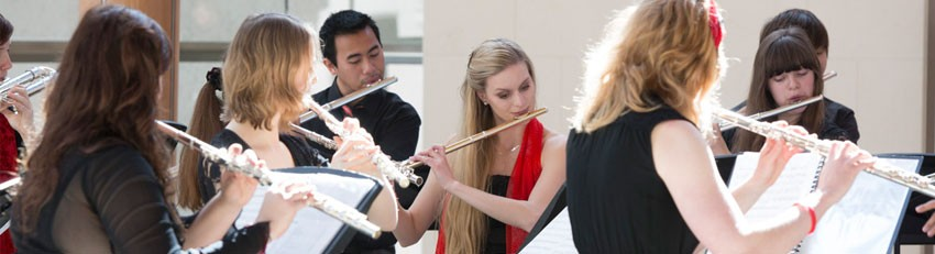Collection of musicians playing the flute.