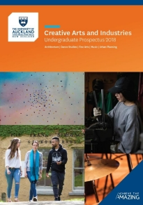 Front cover of the prospectus featuring students chatting.