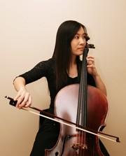 Lisa Chung playing the cello.